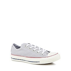 Converse - Pale grey canvas 'All Star Ox' lace up trainers