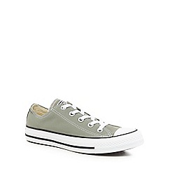 Converse - Khaki canvas 'All Star Ox' lace up trainers
