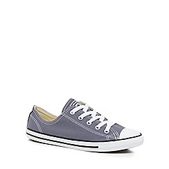 Converse - Mid blue canvas 'Dainty' lace up trainers