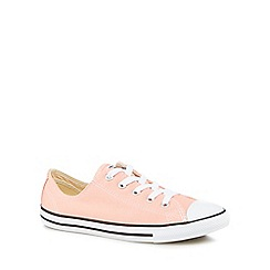 Converse - Pale peach canvas 'Dainty' lace up trainers