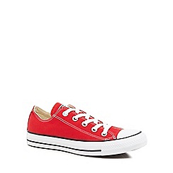 Converse - Red canvas \u0027All Star\u0027 lace up shoes