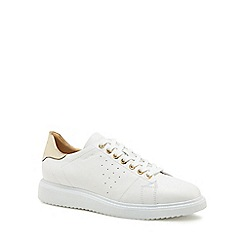Geox - White leather 'Geox' trainers