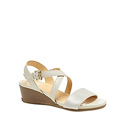 Geox - Ivory 'Marykarmen' mid wedge heel ankle strap sandals