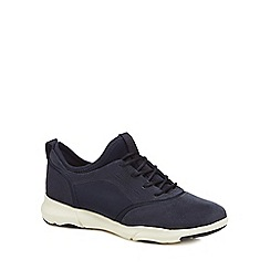 Geox - Navy suede 'Nebula' lace-up trainers
