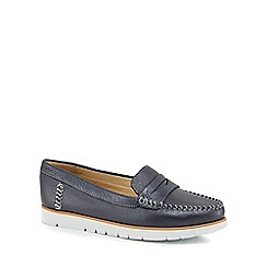 Geox - Navy leather 'D Kookean' loafers