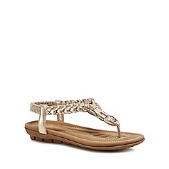 Lotus - Gold metallic 'Bologna' sandals