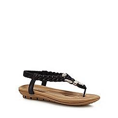 Lotus - Black metallic 'Bologna' sandals