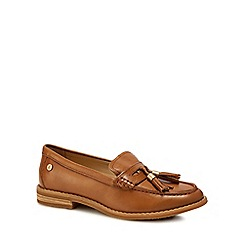 Hush Puppies - Tan leather 'Chardon Penny' loafers