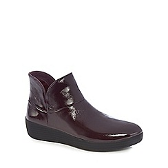 FitFlop - Plum supermod leather ankle boots II