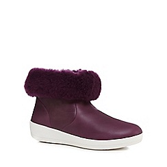 FitFlop - Plum skatebootie shearling boots