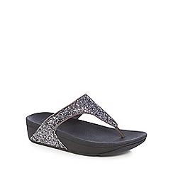 FitFlop - Metallic glitterball toe-post sandals