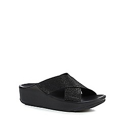 FitFlop - Black glitter embellished sandals