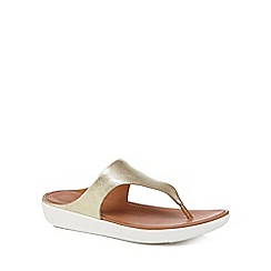FitFlop - Gold leather 'Banda II' flip flops