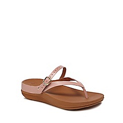 FitFlop - Pink leather flip flops