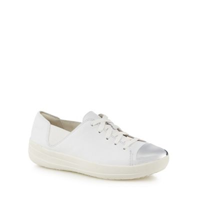 FitFlop - White leather leather White 'F-Sporty' trainers fcd22f