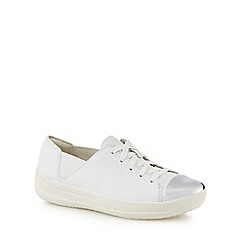 FitFlop - White leather 'F-Sporty' trainers