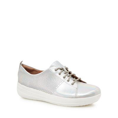 FitFlop - Silver leather 'F-Sporty' trainers