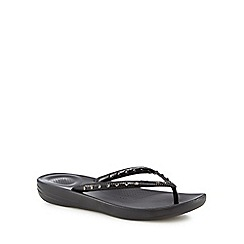 FitFlop - Black IQushion flip flops