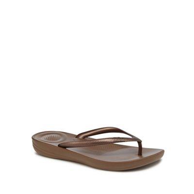 FitFlop - Bronze IQushion flip flops