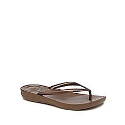 FitFlop - Bronze IQushion flip flops