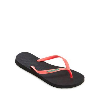 Havaianas - - - Black and coral flip flops b56ead