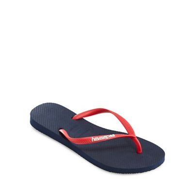 Havaianas - Navy and coral flip flops