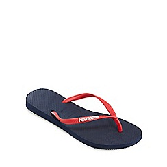 Havaianas - Navy and coral flip flops