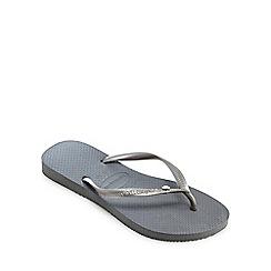 Havaianas - Grey 'Crystal' flip flops
