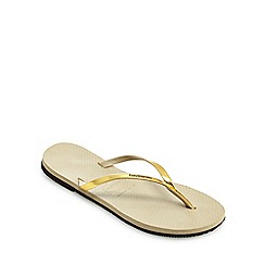 Havaianas - Metallic gold 'You' flip flops