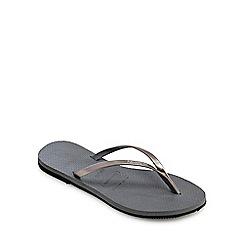 Havaianas - Grey 'You' Flip Flops