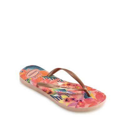 Havaianas - Multi-coloured 'Ballet' flip flops