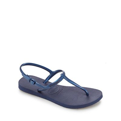 Havaianas - Navy 'Freedom' sandals Fashionable and eye-catching shoes