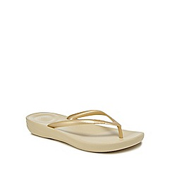 FitFlop - Gold IQushion flip flops