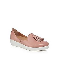 f441297260cf FitFlop - Pink leather  Superskate D orsay  mid flatform heel loafers
