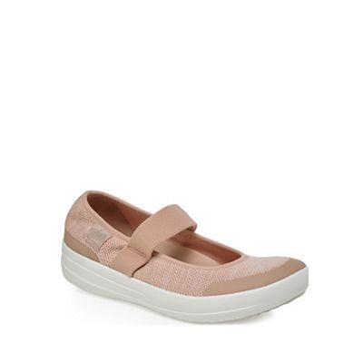 FitFlop - Pink 'Uberknit' mid flatform heel heel heel mary janes 881e65