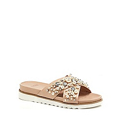 Faith - Pink 'Jazzy' diamante embellished flip flops