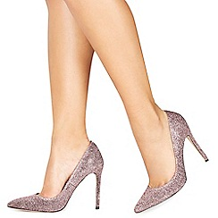 Faith - Pink 'Chloe Shimmer' high stiletto heel pointed shoes