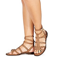 Faith - Tan 'Julius' gladiator sandals