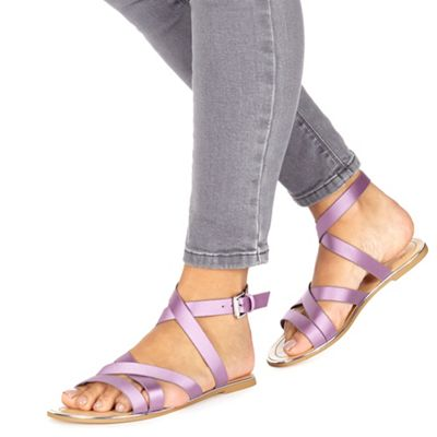 Faith - Lilac 'Jatin' ankle strap sandals