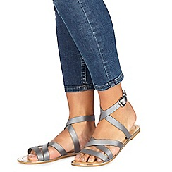 Faith - Silver 'Jatin' ankle strap sandals