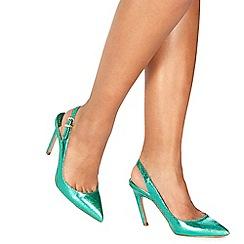 Faith - Dark green 'Colada' high stiletto heel slingbacks