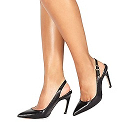 Faith - Black 'Colada' high stiletto heel slingbacks