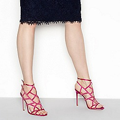 Faith - Pink 'Latoya' high stiletto heel ankle strap sandals