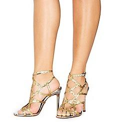 4d356ea3dc6 Faith - Gold  Latoya  high stiletto heel ankle strap sandals