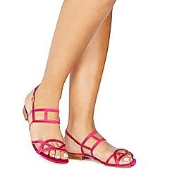 Faith - Pink satin 'Jada' ankle strap sandals
