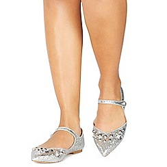 Faith - Silver glitter 'Abi' pointed shoes