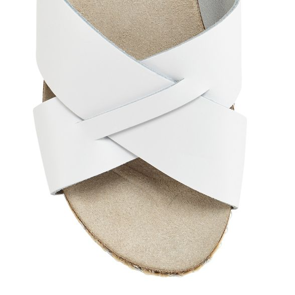 leather heel sandals mid flatform Faith White 'Jarb' 5cnqF1wpf