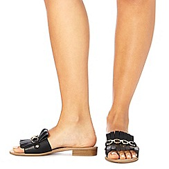 Faith - Black 'Jingle' slip-on sandals