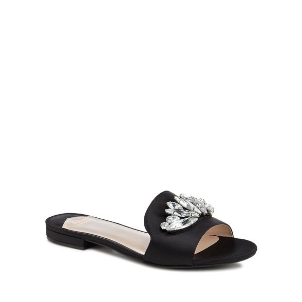 Faith satin sandals satin Faith 'Jungle' Black sandals 'Jungle' Black Faith Z0Egxwpq