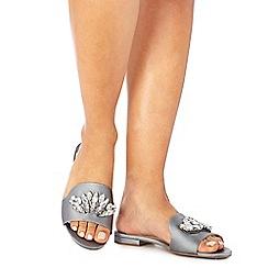 Faith - Grey satin 'Jungle' sandals
